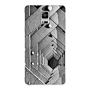 Stylish Cage Hexa Back Case Cover for Galaxy Note 4