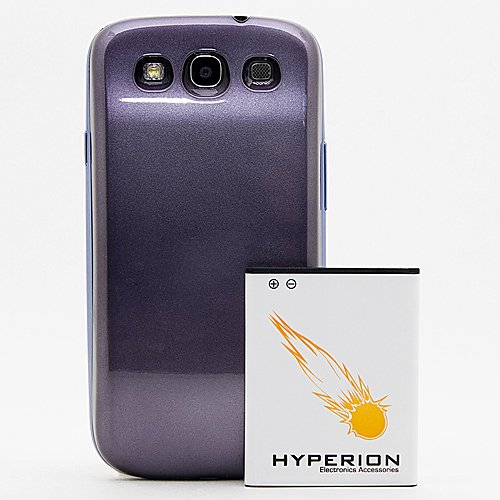 Hyperion Samsung Galaxy SIII 4200mAh Extended Battery + Pebble Blue Back Cover (Compatible with Samsung Galaxy S III GT-i9300, AT&T Samsung Galaxy S3 Samsung i747, Verizon Samsung Galaxy S3 Samsung i535, T-mobile Samsung Galaxy S3 Samsung T999, U.S. Cellular Samsung Galaxy S3 R530, and Sprint Samsung Galaxy S3 Samsung L710)**NOW WITH NFC**
