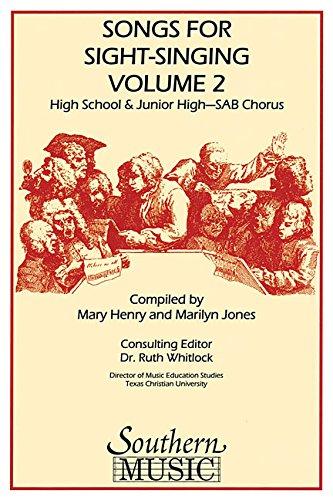 Songs for Sight Singing: Junior High/High School Edition Sab Book
