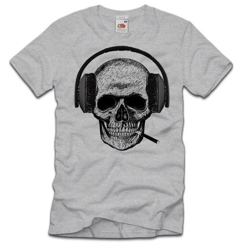 TEE-Shirt -  T-shirt - Collo a U  - Maniche a 3/4 - Uomo Grau XXXL