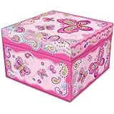Pecoware Fancy Butterfly Square Jewelry Box