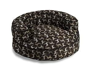Crypton William Wegman Round Rotator Bolster Pet Bed, Large, Midnight Black