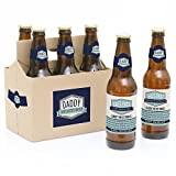Daddy's First Milestones - 6 Beer Bottle Labels with 1 Beer Carrier