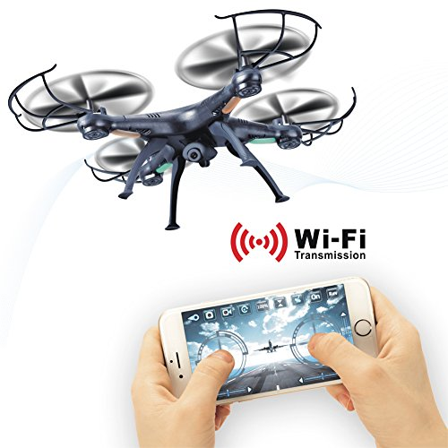 LAMASTON X5SW-1 WIFI HD Camera RC Quadcopter Kit FPV Real Time RC Airplane, Transmission 2.4G Remote Control Helicopter Drone with Live Video Camera,RC Aircraft with Extra Battery For Christmas Gift