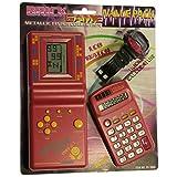 PACK de Tetris + Reloj + Calculadora para niños - Mod.EV-3000 Color Rojo