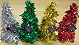 Disney Foil Tinsel Table Top Christmas Tree Decoration 10.5 Green