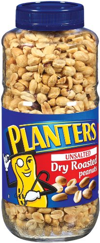 Planters Peanuts, Dry Roasted, Unsalted, 1 lb. 8 oz Jars (Pack of 2)