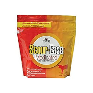 Manna Pro 0094240276 Scour-Ease Medicated Calf Milk Replacer, 8-Ounce