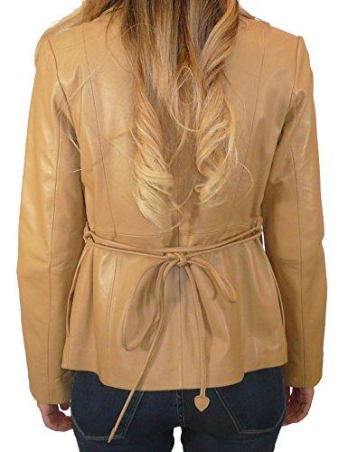 TESKI Women's short blazer with belt l cider