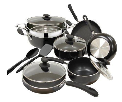 Ecolution Heavyweight 12-Piece  Cookware Set ,Black