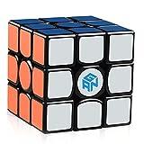 D-FantiX Gans 356 Air Master 3x3 Speed Cube, Gan 356 Air 3x3x3 Speed Cube Magic Cube Puzzles Black with New Blue Cores (Color: Black)