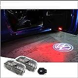 Volkswagen LEDロゴ発光 ドアウェルカムライト LED投影 ゴーストシャドウ フォルクスワーゲン カーテシランプ DC12V 2個セット ホワイト/レッド