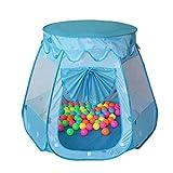 Kinder-Spiel-Zelt, Kinder knallen oben Zelt, Easy Faltzelt House, Innen- oder im Freien Garten Spielzeug, House Playhouse Game house Baby Beach Sun-Zelt (Blau)