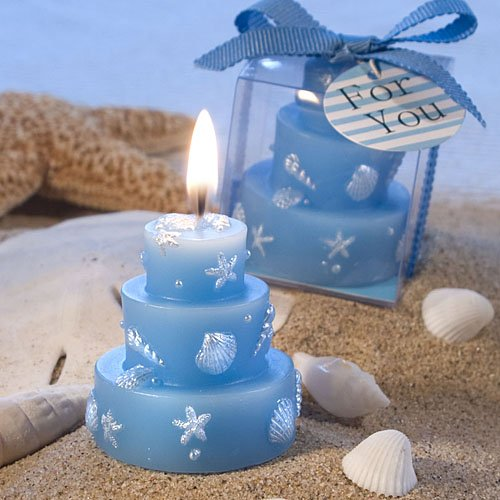 72 Beach Themed Wedding Cake Candle Favors