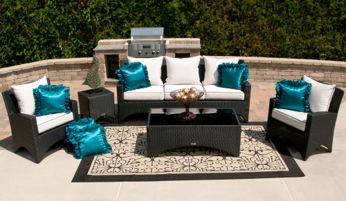 The Marchesa Collection All Weather Wicker 5-Piece Patio Furniture Deep Seating Set