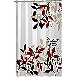 Maytex Mills Satori Fabric Shower Curtain, Red