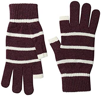 Etre Touchy Texting Gloves (L, Victoria/Ecru Stripe)
