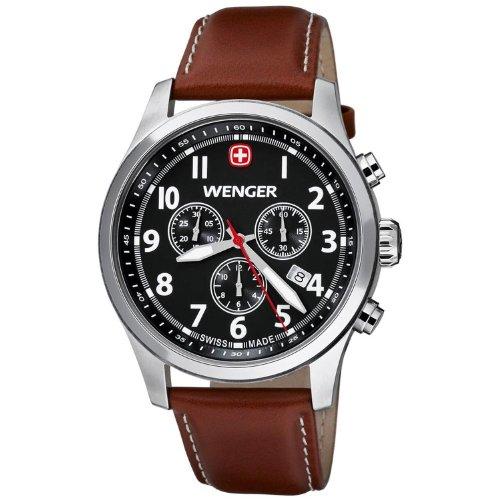 [ウェンガー]Wenger 腕時計 TerraGraph Chrono Black dial, White Numbers, Brown 0543.102 [並行輸入品]