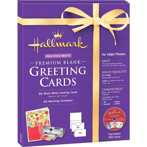 Canon Music Fold Count Premium Greeting  Cards Matte