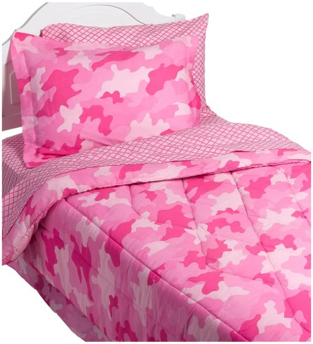 Instyle camo pink bedding set twin kids camouflage bedding