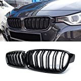 F30 Grille,ABS Front Replacement Kidney Grill for 3 Series F30 F31 Gloss Black