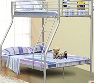 Triple Sleeper Bunk Bed - Double Bed Base and Single on Top