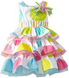 Mud Pie Baby Girls\' I\'m 1 Birthday Dress, Multi, 12 18 Months