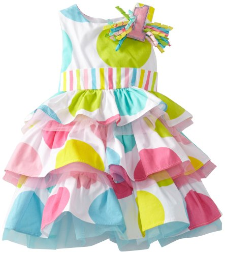 Mud Pie Baby-Girls Newborn I'm 1 Birthday Dress, Multi, 12-18 Months