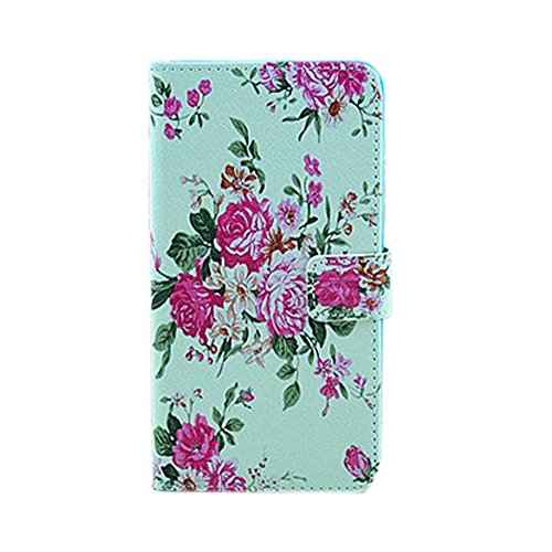 Meaci® Samsung Galaxy Note Iii 3 Folio Case Fashion/Retro Style Pattern With Wallet Kickstand Credit Card Holder Id Holder Pu Leather Material Cover Magnetic Buckle (Flower Peony)