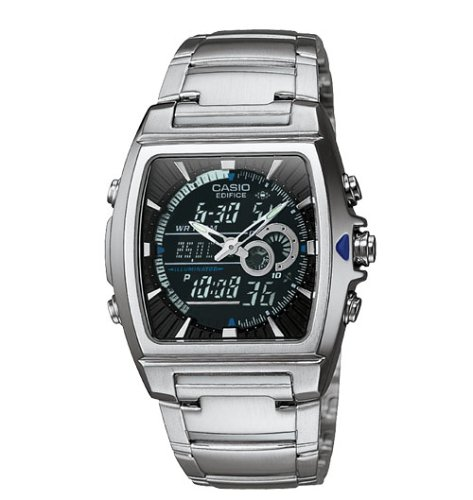 Casio Mens Ana-Digi Edifice Thermometer Bracelet Watch #EFA120D-1AV