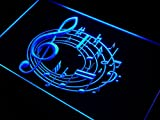 Enseigne Lumineuse j578-b Music Notes Bar Beer Neon Light Sign