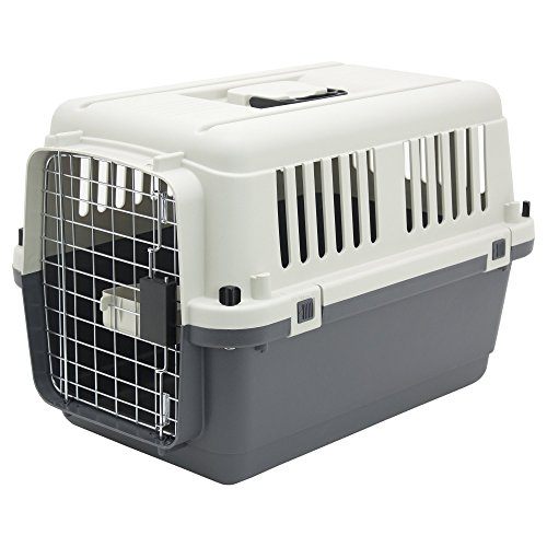 Plastic Kennels – Rolling Plastic Airline Approved Wire Door Travel Dog Crate, Small