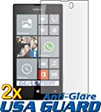 2x Nokia Lumia 521 (T-Mobile) Premium Anti-Glare Anti-Fingerprint Matte Finishing LCD Screen Protector Guard Shield Cover Kits. (GUARMOR Brand)