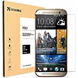 Coolreall Premium Tempered Glass Screen Protector for HTC ONE M8 (0.33mm HD Ultra Clear)