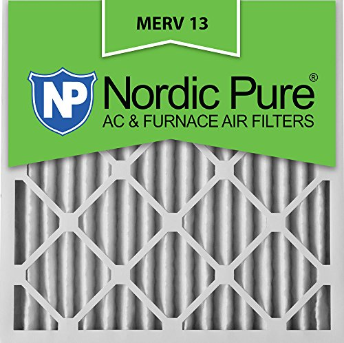 Nordic Pure 20x20x2M13-3 20x20x2 MERV 13 Pleated AC Furnace Air Filter, Box of 3, 2-Inch