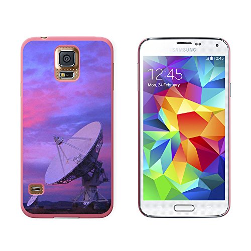 Very Large Array Vla Radar Telescope Dishes New Mexico At Sunset - Snap On Hard Protective Case For Samsung Galaxy S5 - Pink