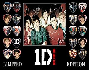 One Direction Signed Autographed Framed 500 Limited Edition Guitar Pick Set Display 3 by Autograph Arcade