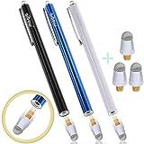 aibow ペン先交換式 スタイラスペン abw-p18 3本+交換ペン先3個セット (ブルー+ブラック+ホワイト)