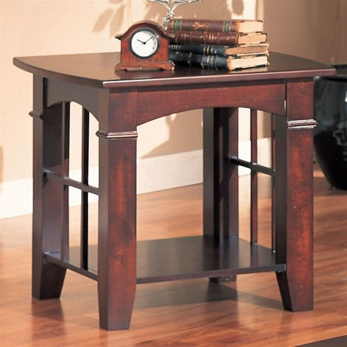 Cheap Cherry Finish End Table by Coaster Furniture (B0062CJ9VG)