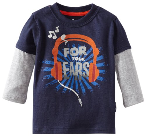 Watch Me Grow! By Sesame Street Baby-Boys Newborn 1 Piece For Your Ears Headphones Pullover, Navy, 6-9 Months
