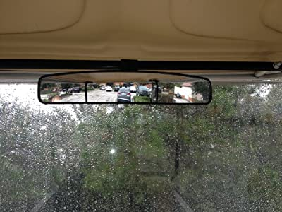 """16.5"""" Extra Wide Panoramic Rear View Mirror for Golf Carts Such As Ez Go, Club Car, Yamaha"""