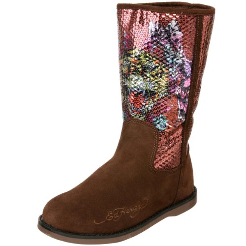 Ed Hardy Sequined Iceland Boot for Women - Brown