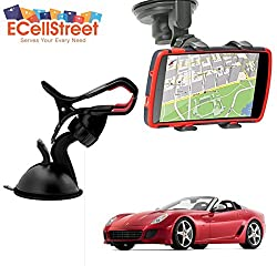 ECellStreet TM Mobile phone soft tube mount holder with suction cup - Multi-angle 360° Degree Rotating Clip Windshield Dashboard Smartphone Car Mount Holder Ferrari California