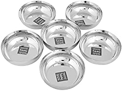 Taluka Premium Stainless Steel Sweet Bowl/Dessert Bowls | Ice Cream Bowls/Bowls For Kheer/katori/Steel with set of 6 For Serving Deserts Sweets
