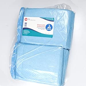 Dynarex #1342 Underpads, 23x24 in. 31 gram, 100 ct from Dynarex