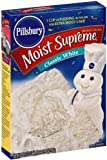 Pillsbury Cake Mix, Clasic White, 18.25-Ounce Boxes (Pack of 6)