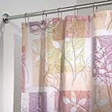 InterDesign Botanical Shower Curtain, 72 x 72-Inch, Vivo, Purple/Tan