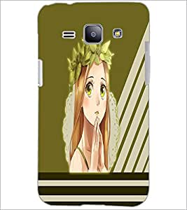PrintDhaba Praying girl D-2380 Back Case Cover for SAMSUNG GALAXY J1 (Multi-Coloured)