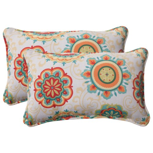 Throw Pillow Website : Pillow Perfect IndoorOutdoor Fairington Corded Rectangular Throw Pillow Aqua Set of 2 - coconuas27