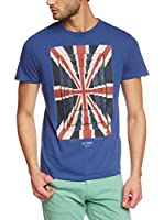 Ben Sherman Camiseta Manga Corta Union Optic Tee (Azul)